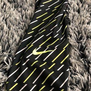 Nike Pants - Nike full length leggings black neon yellow Sz. XL
